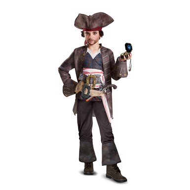 Boys Deluxe Captain Jack Pirate Halloween Costume