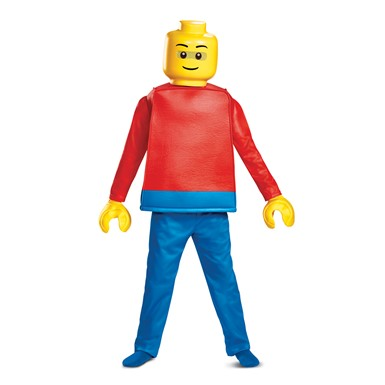 Boys Deluxe Lego Guy Halloween Costume