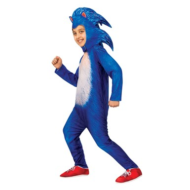 Boys Deluxe Sonic The Hedgehog Child Halloween Costume