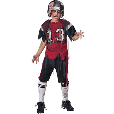 Boys Football Zombie Horror Sports Halloween Costume