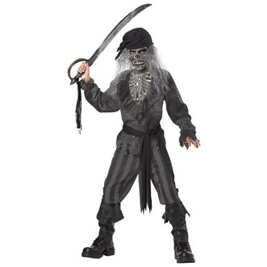 Boys Ghost Pirate Zombie Kids Halloween Costume
