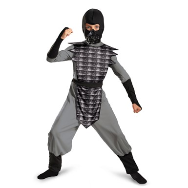 Boys Grey Evil Ninja Halloween Costume