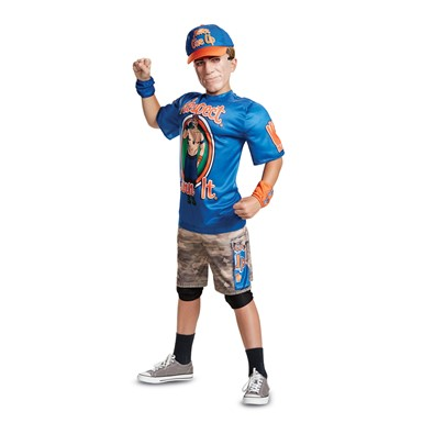 Boys John Cena Blue R.E.I. Muscle WWE Wrestler Costume
