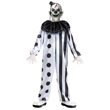 Boys Killer Clown Halloween Evil Demon Costume