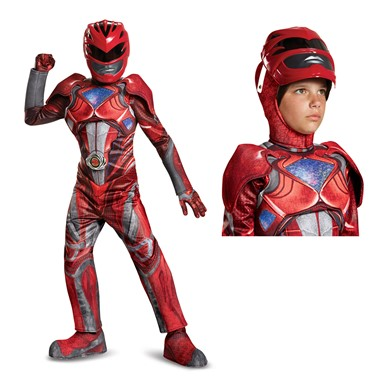 Boys Red Ranger Movie Prestige Halloween Costume