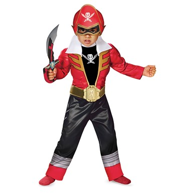 Boys Red Ranger Super Megaforce Light Up Costume for Toddlers