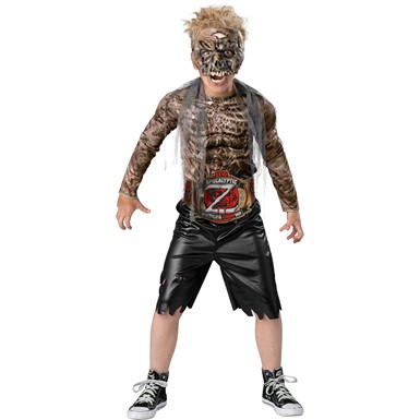 Boys Rotting Wrestler Zombie Child Halloween Costume