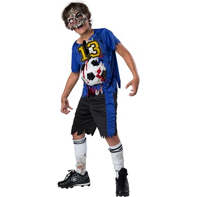 Boys Zombie Goals Soccer Sports Halloween Costume