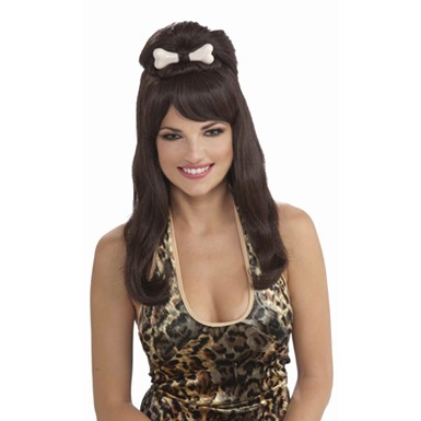 sc 1 st  Costume Kingdom & Brunette Cavewoman Adult Woman Halloween Costume Wig