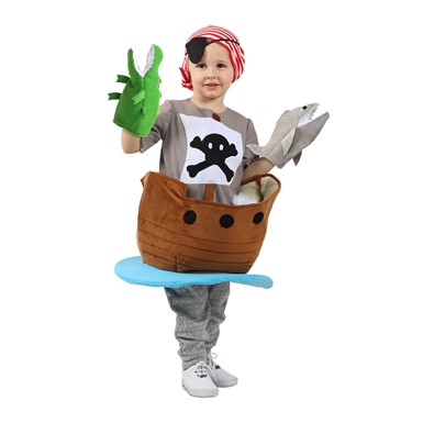 Child Pirate Ship Candy Catcher Halloween Costume