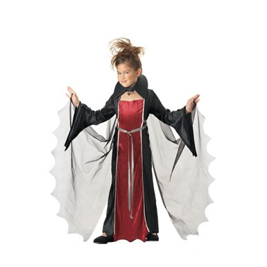 Child Vampire Girl Costume for Halloween