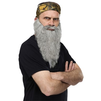 Crazy Quackers Grey Beard And Bandana TV Costume Beard