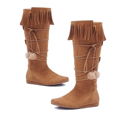 Dakota Womens Tan Fringe Boots