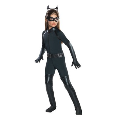 Deluxe Girls Catwoman Catsuit Halloween Costume