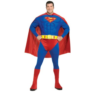 Deluxe Superman Muscle Mens Big u0026 Tall Costume 46-52  sc 1 st  Costume Kingdom : deluxe halloween costumes for men  - Germanpascual.Com