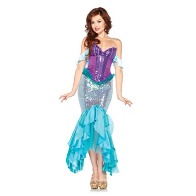 Disney Princess Womens Deluxe Ariel Little Mermaid Costume