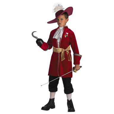Disneys Captain Hook Child Pirate Costume