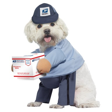 Dog US Mail Carrier Pup Halloween Pet Costume