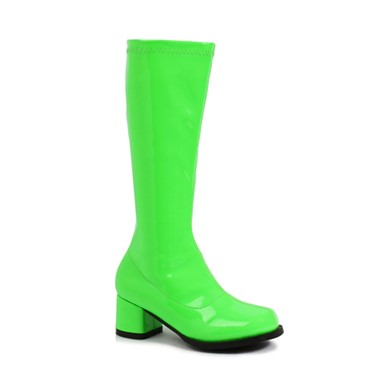 "Dora Girls Neon Lime Green 1.75"" Go Go Boots"