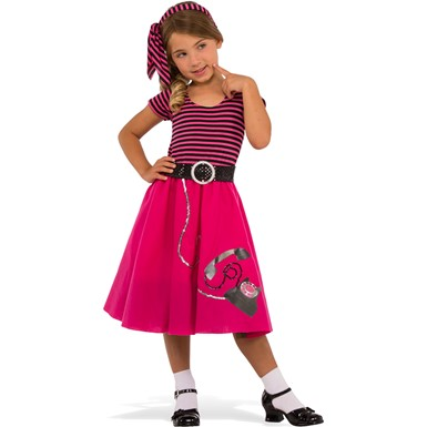 Girls 50's Girl Retro Halloween Costume
