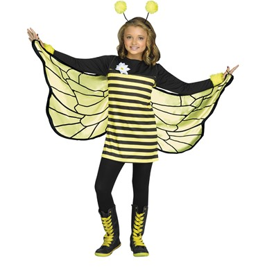 Girls Bee My Honey Bumble Bee Costume  sc 1 st  Costume Kingdom & Girls Bee My Honey Halloween Costume - Girls Bumble Bee Costumes ...