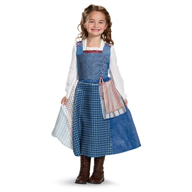 Girls Belle Village Dress Disney Halloween Costume
