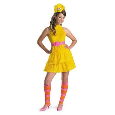 girls big bird sesame street child halloween costume