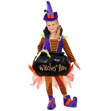 Girls Cauldron Witch Halloween Costume