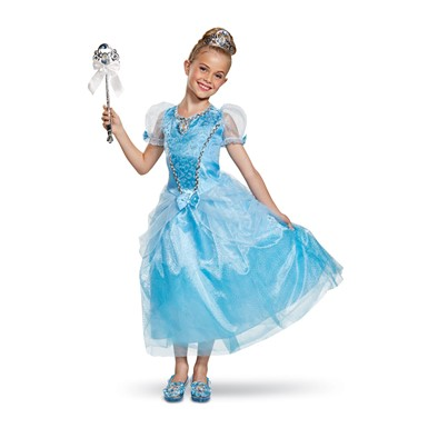 Girls Cinderella Deluxe Gown Halloween Costume