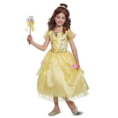 Girls Deluxe Belle Gown Halloween Costume
