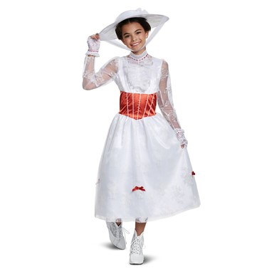 Girls Deluxe Mary Poppins Halloween Costume