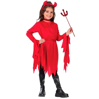 Girls Devil Tutu Classic Halloween Costume