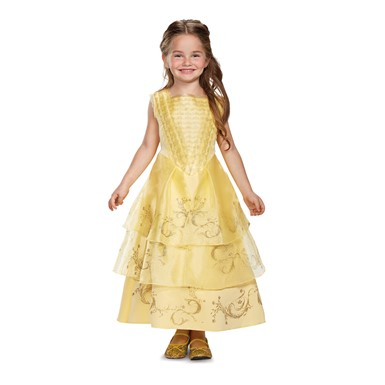 Girls Disney Belle Ball Gown Deluxe Costume