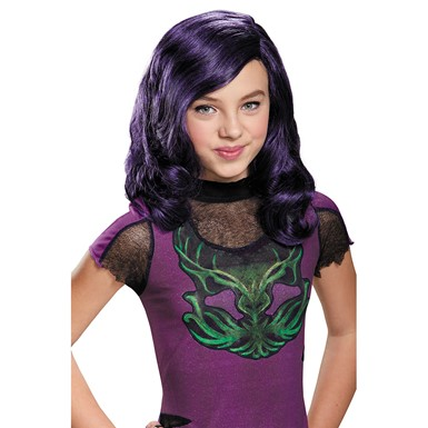 Girls Disney Descendants Mal Halloween Wig