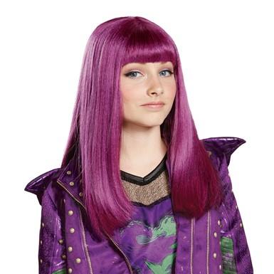 Girls Disney Descendants Mal Isle Look Purple Wig