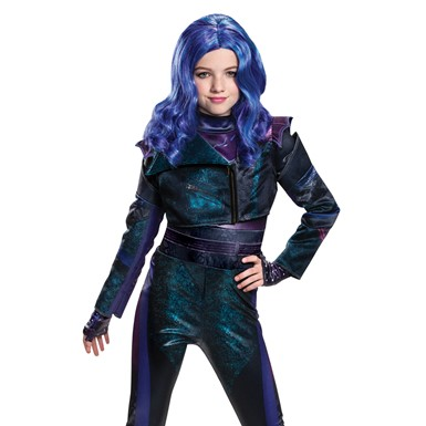 Girls Disney Descendants Mal Purple Wig