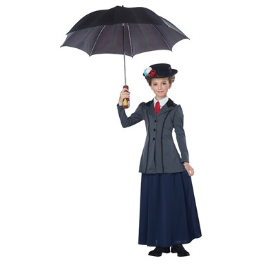 Girls English Nanny Mary Poppins Disney Costume