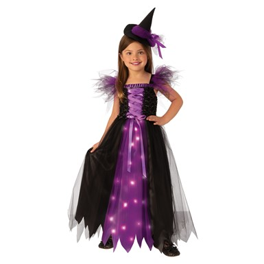 Girls Fancy Witch Child Halloween Costume