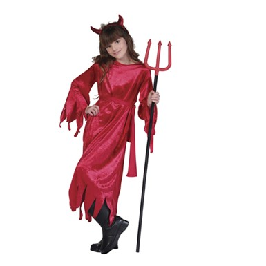 Girls Halloween Childrens Devil Costume
