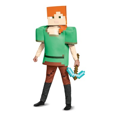 Girls Minecraft Alex Deluxe Halloween Costume  sc 1 st  Costume Kingdom & Girls Minecraft Alex Halloween Costume u2013 Minecraft Costumes