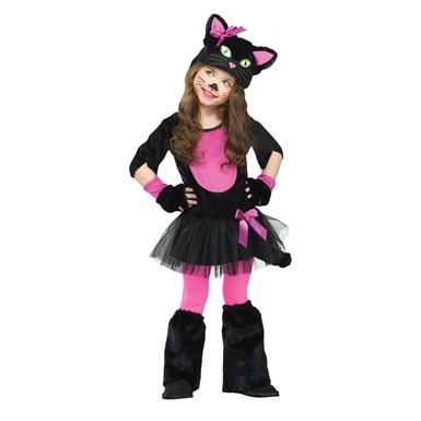 Girls Miss Kitty Toddler Halloween Costume  sc 1 st  Costume Kingdom & Toddler Cat Costume u2013 Miss Kitty Costume u2013 Kids Halloween Costumes