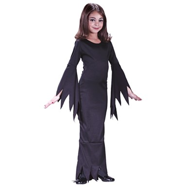 Girls Morticia Addams Family Halloween Costume