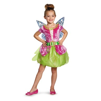 Girls Pirate Tinker Bell Classic Halloween Costume