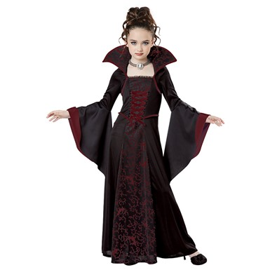 Girls Royal Vampire Halloween Costume
