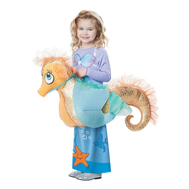 Girls Seaquestrian Mermaid Costume size M/L 3T-6T