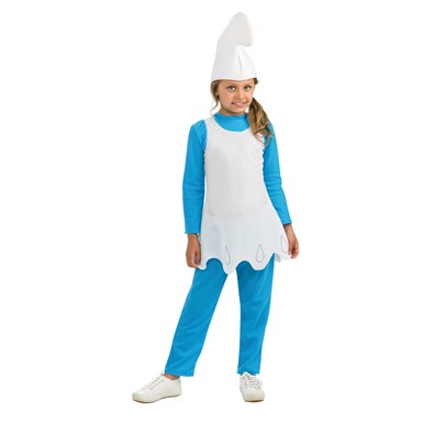 Girls Smurfette The Lost Village Costume