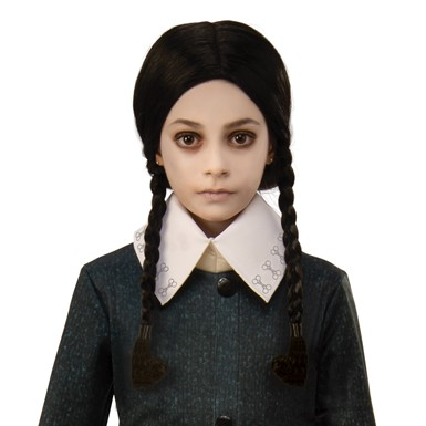 Girls Wednesday Addams Family Costume Child Wig
