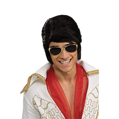 Gold Elvis Glasses Halloween Costume Accessory