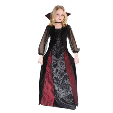 Gothic Maiden Vampiress Girl Child Halloween Costume