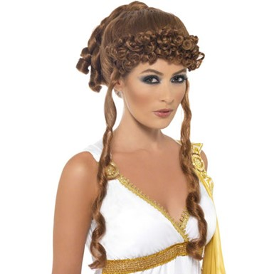 Helen of Troy Greek Trojan Sexy Halloween Accessory Wig